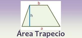 cómo sacar el área de un trapecio